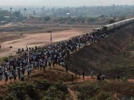 မော်လမြိုင်တွင် ရထားပိတ် ဆန္ဒပြ